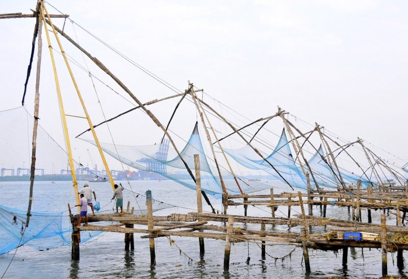 chinese fishing nets in kochi kerala