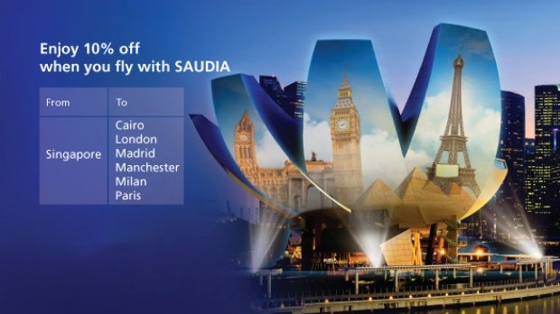 Enjoy 10% Off Flights with Saudia Airlines to Europe and Cairo