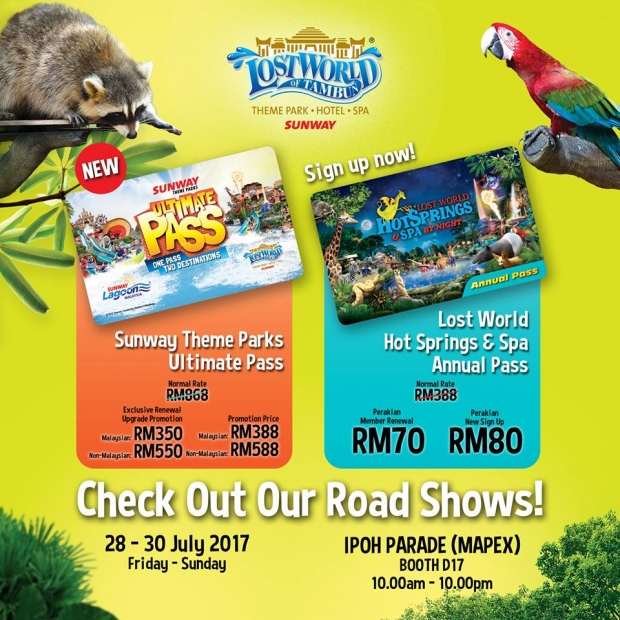 Lost World of Tambun and Other Attraction Passes from RM70 at Mapex Ipoh Parade