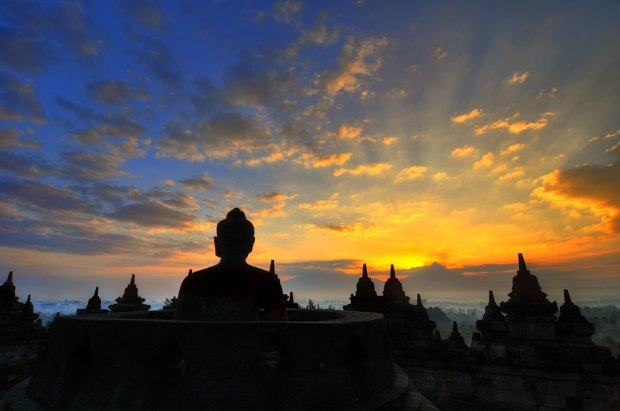 Borobudur, Indonesia sunset