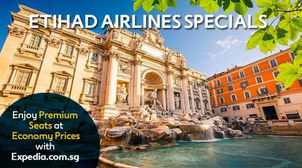 Etihad Airlines' Special Deal with Expedia from SGD3,308 to Europe 1