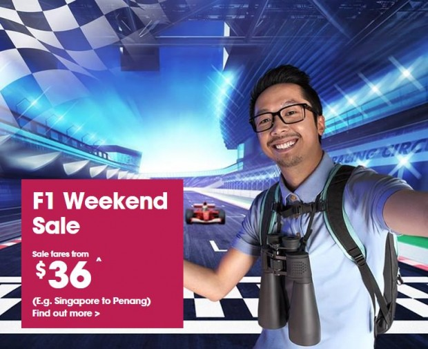 F1 Weekend Sale at Jetstar from SGD36