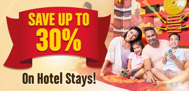 Save Up to 30% on your Hotel Stay in Legoland Malaysia