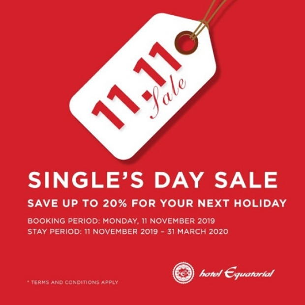 Single's Day - Room Only Promotion in Hotel Equatorial Penang