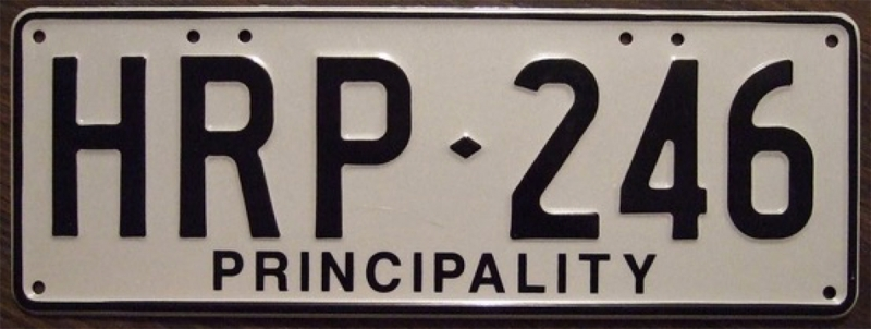 licence plate in hutt river province