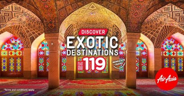 Discover Exotic Destinations from SGD34 with AirAsia