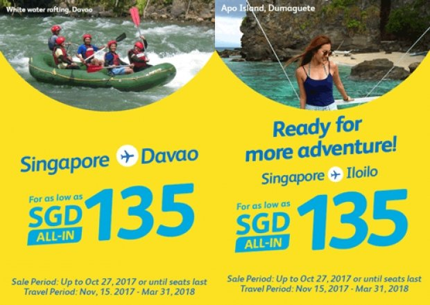 Fly to Philippines with Cebu Pacific from SGD135