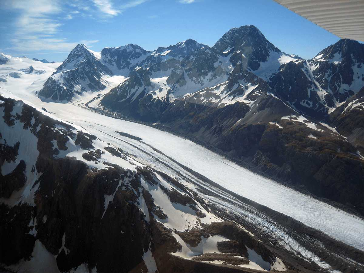 snow-covered slopes of mount cook