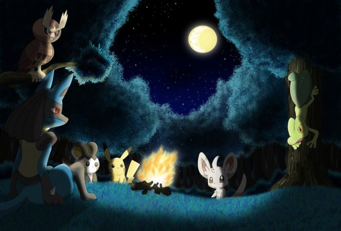 pokemon at night