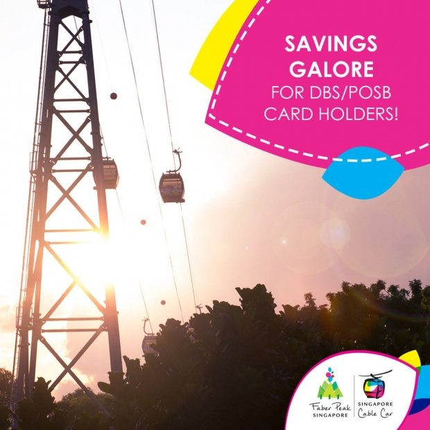Enjoy Up to 50% Off Ride on Singapore Cable Car with DBS/POSB Card