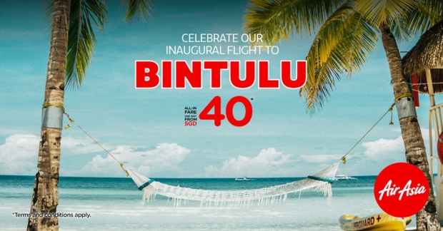Inaugural Flight to Bintulu with AirAsia from SGD40