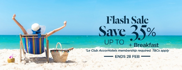 Flash Sale: Save Up to 35% on your Stay in Participating Ibis Hotels