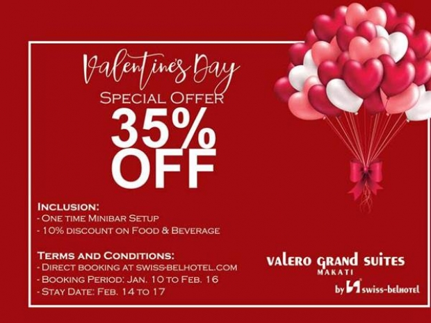 Valentine Special at Valero Grand Suites by Swiss-belhotel