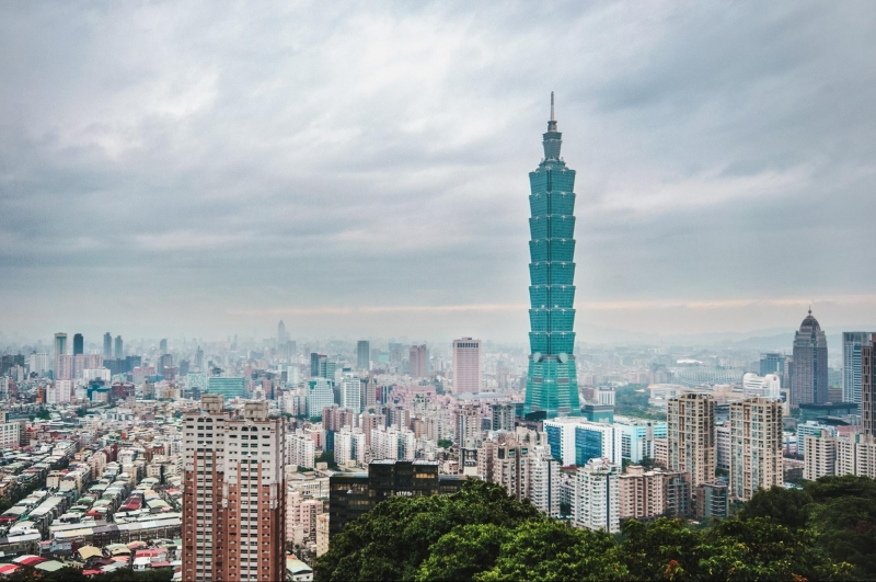 taipei 101 standing tall above the city