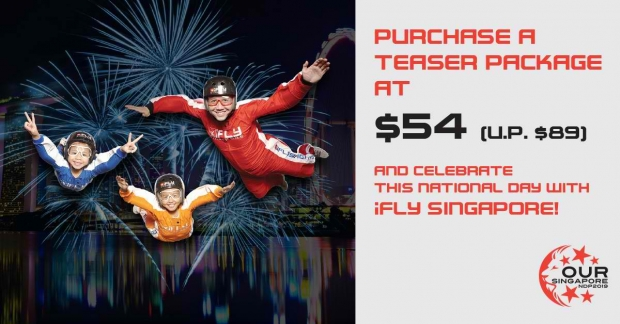 Teaser Package at SGD54 this National Day with iFly Singapore