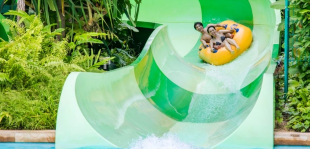 Mastercard Exclusive: Adventure Cove Waterpark Adult One-Day Ticket + SGD5 Retail Voucher and Yellow Mini Octopus Plush at SGD34