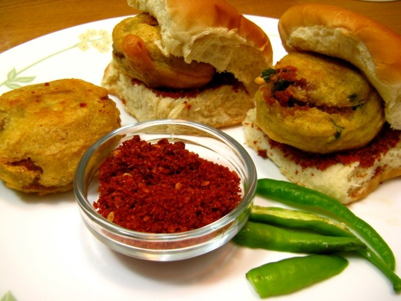 some ingredients of vada pav