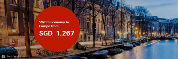 Fly to Europe with SWISS Airlines from SGD1,267