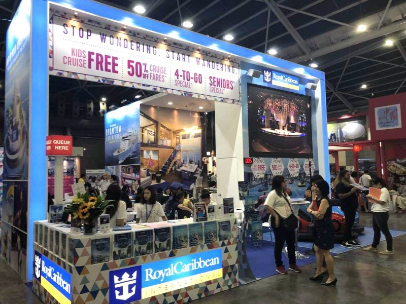 Royal Caribbean Cruises booth at NATAS travel fair