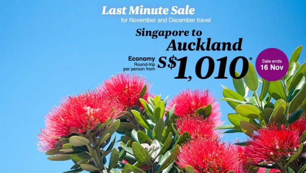 Last Minute Summer Special with Air New Zealand to Auckland