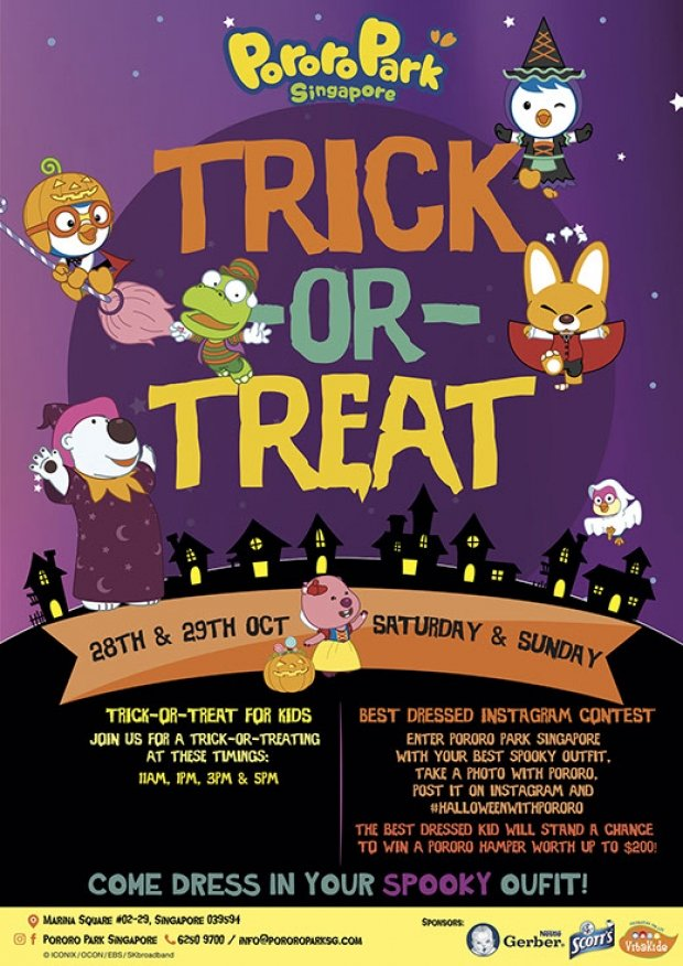 Celebrate Halloween in Pororo Park Singapore and WIN Annual Membership Card