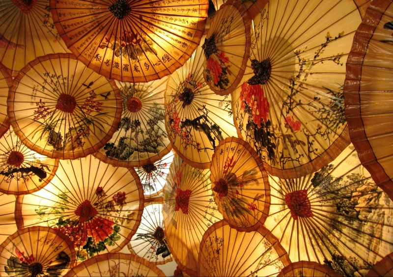 oiled paper umbrellas