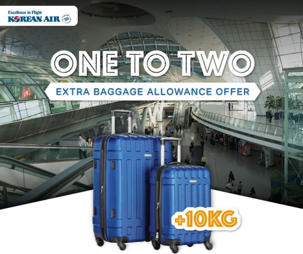 Extra Baggage Allowance to Southeast Asia Returning from Seoul