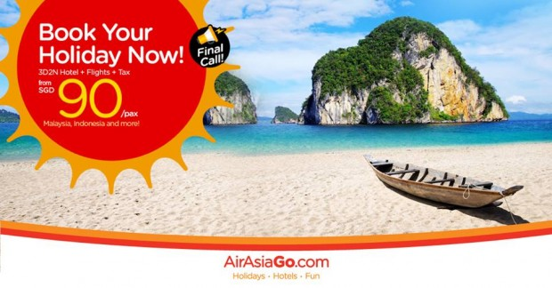 Book Your Holiday from SGD90 with AirAsiaGo