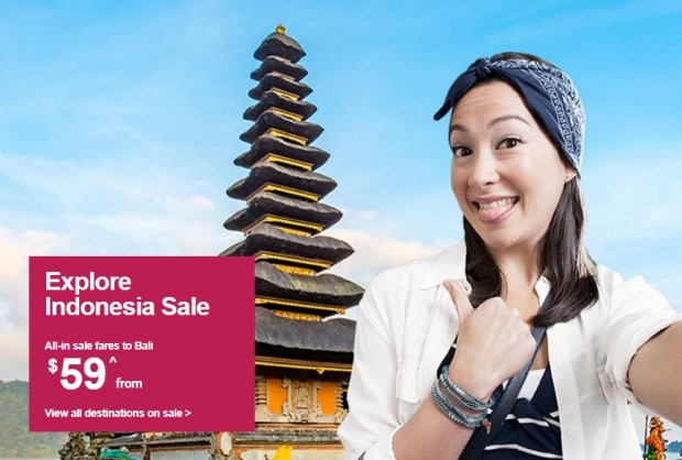 Fly with Jetstar to Indonesia Fare Sale from SGD53