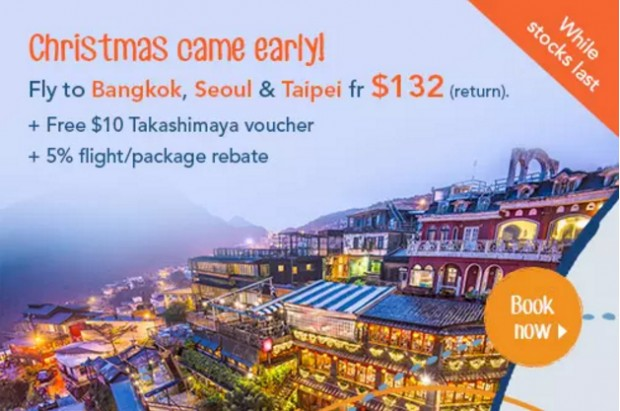 Enjoy Christmas Break with Zuji on Flights to Bangkok, Seoul & Taipei 1