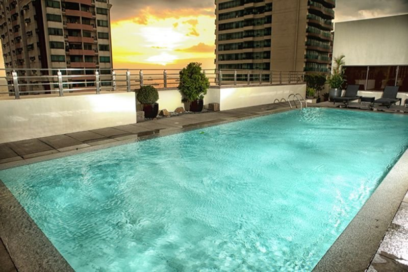 Armada Hotel Manila rooftop pool