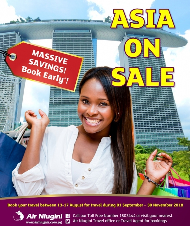Air Niugini Asia Sale 2018 with Up to 25% Off Flight