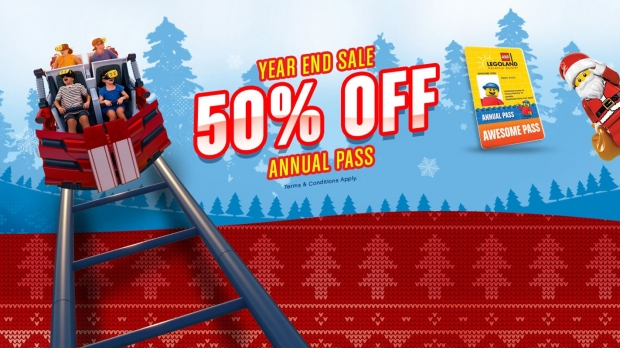 Year-End Flash Deal at 50% Off for Legoland Malaysia Annual Pass