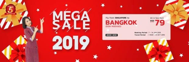 Mega Sale 2019 to Bangkok with Thai Lion Air