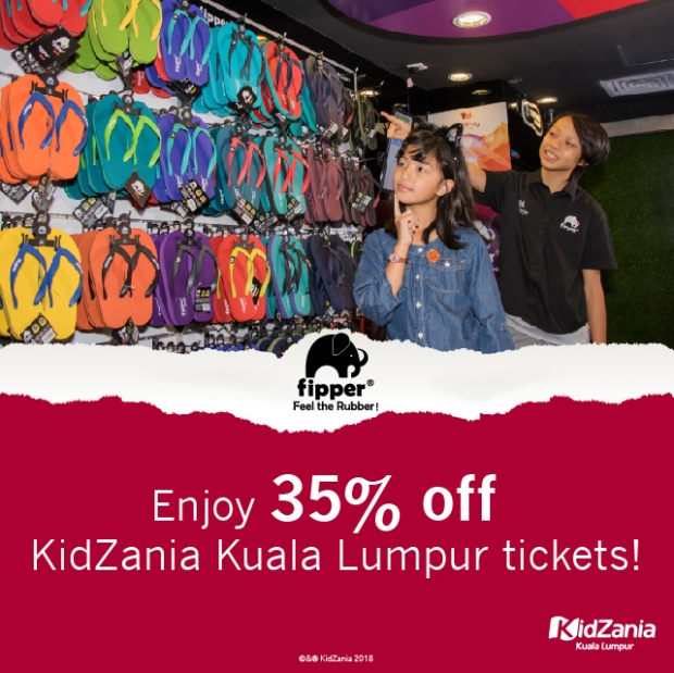 Up to 35% Off KidZania Kuala Lumpur Admission Ticket with Flipper Receipt