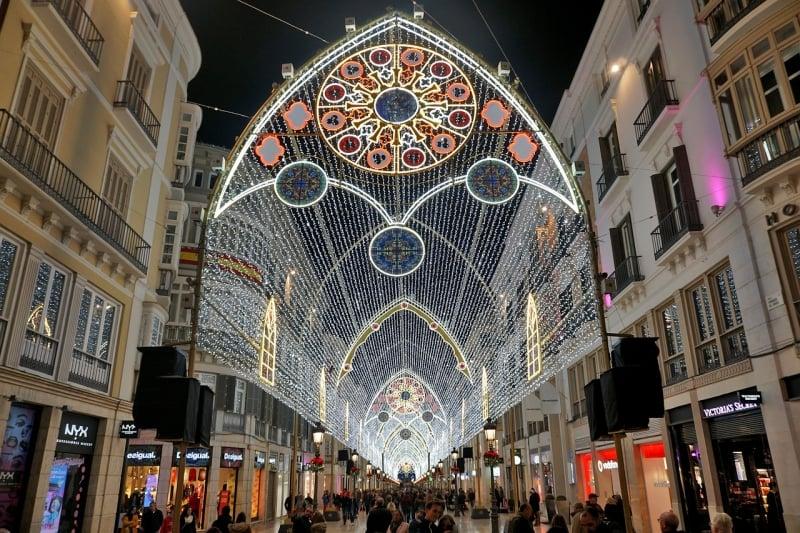 Christmas Lights Around the World: Malaga, Spain