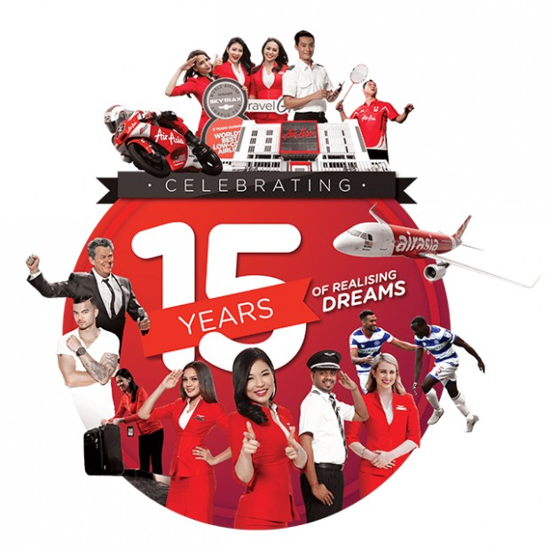 Join the 15th Anniversary of AirAsia and Win Exciting Prizes