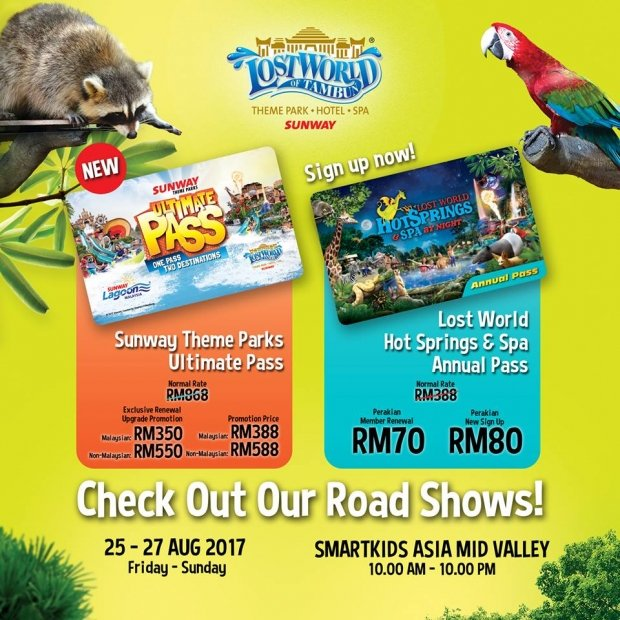 Enjoy Annual Pass to Sunway Lost World of Tambun in a Discounted Price