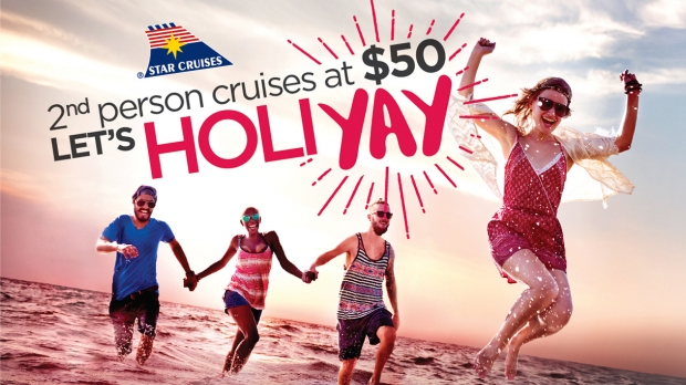 Summer Sale: 2nd Person Cruises at $50 OR $100 with Star Cruises