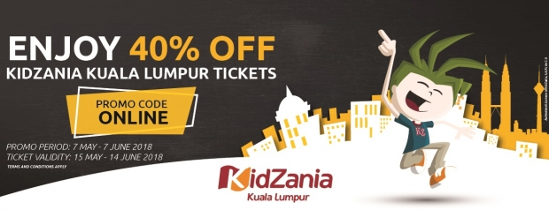 Online Special Promo in KidZania Kuala Lumpur with up to 40% Savings