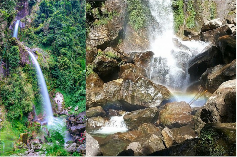 Seven Sister Waterfalls in Sikkim, India