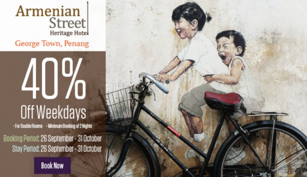 Explore Penang and Enjoy 40% Off Weekday Promotion with Tune Hotel