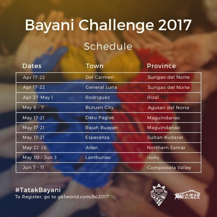 gawad kalinga bayani challenge 2017