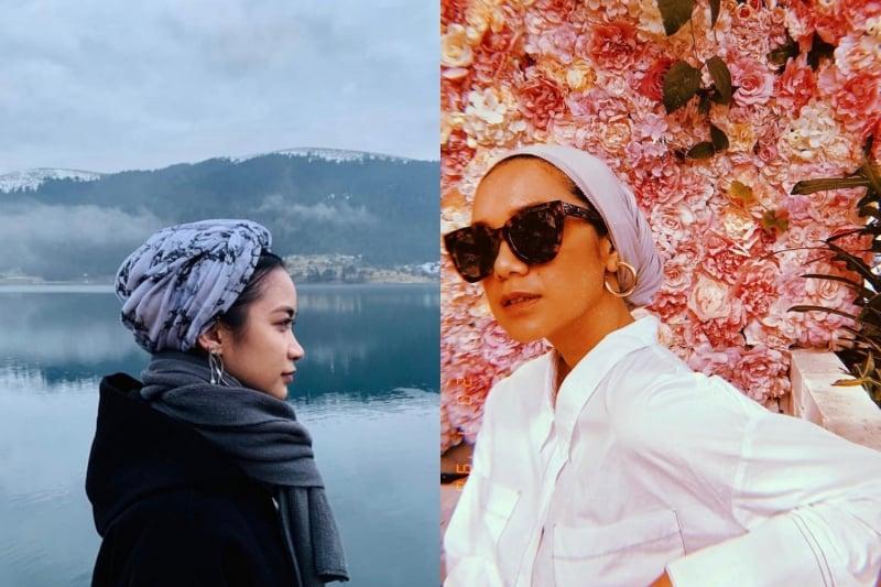 Hijab style turban