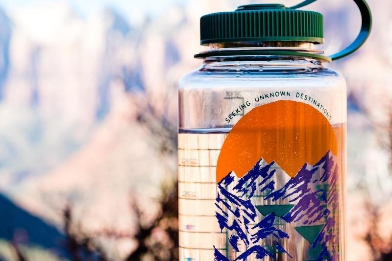 travel dehydration: tumbler
