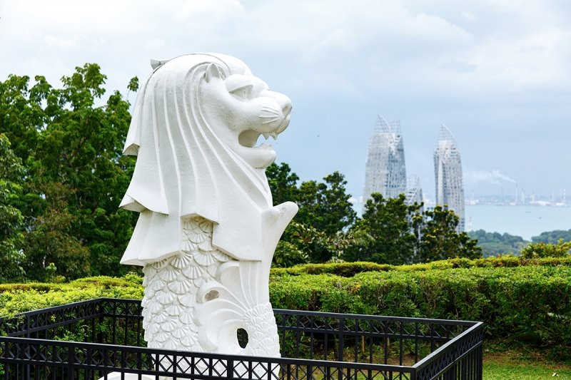 mount faber merlion