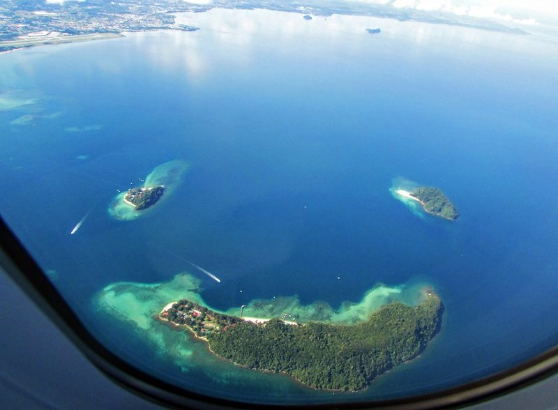 view of tunku abdul rahman national park from a plane
