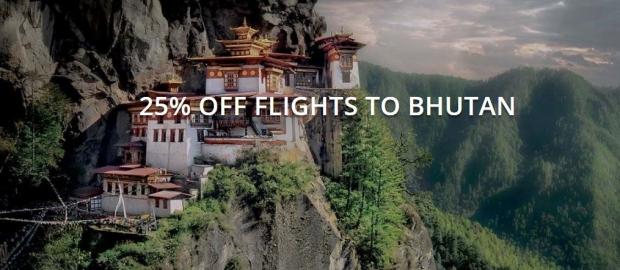 25% Off Flights to Bhutan with Druk Asia until August 2018