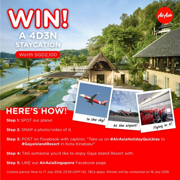 WIN a 4D3N Staycation in Gaya Island Resort with AirAsia