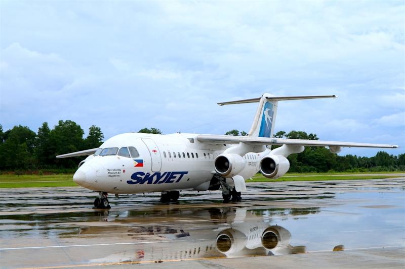 skyjet flight from manila to san vicente